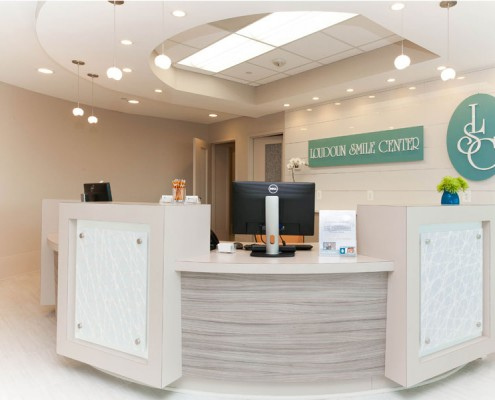 Loudon Smile Center Reception Desk